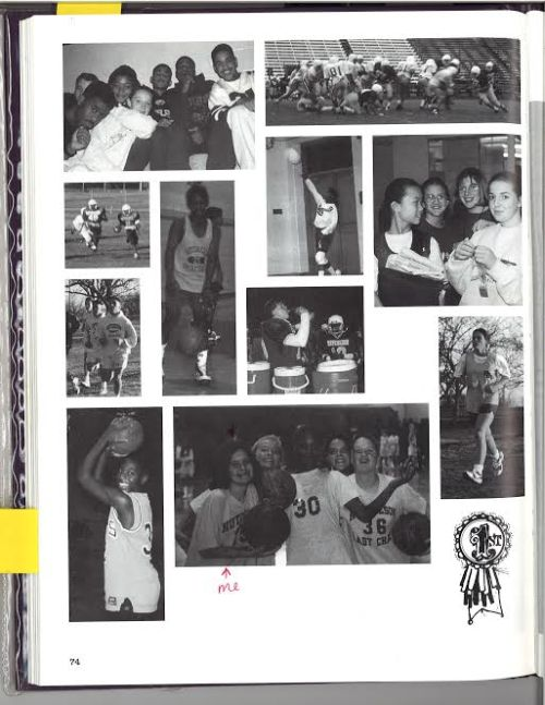 I made it into the junior high yearbook holding a basketball! Too bad I wouldn't make the team!