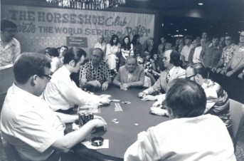 Binion (center) rules over an early World Series of Poker tourney
